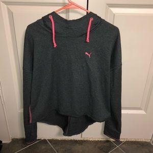 Puma high low cropped sweatshirt. Light weight